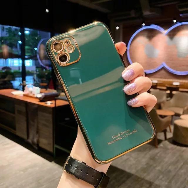 iPhone 12 Skal Laserutskuret stötdämpande i flera färger guld