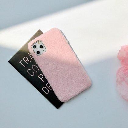 iPhone11 skal teddy material fluffigt mjukt stickat
