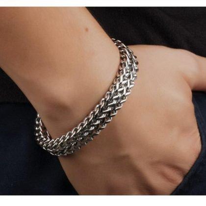 Brett Lyxigt titanium armband för män punk