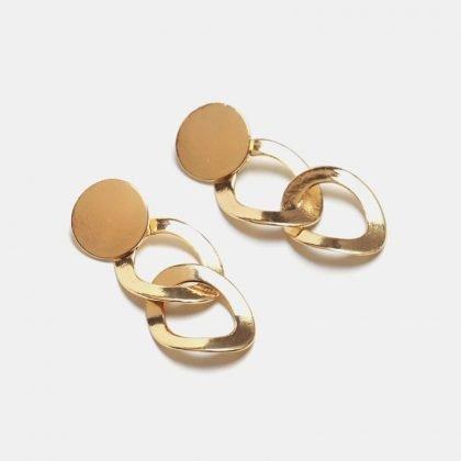 Lyxigt Örhänge i guld med två ringar