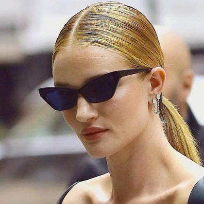 Trendiga små spetsiga cat-eye solglasögon