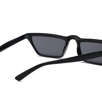Små rektangulära solglasögon trend 2020 Svart