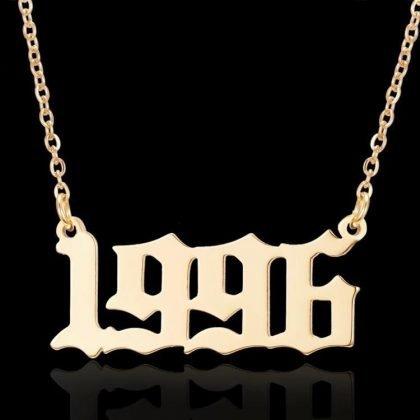 Guldpläterat halsband kedja år 1996 unisex