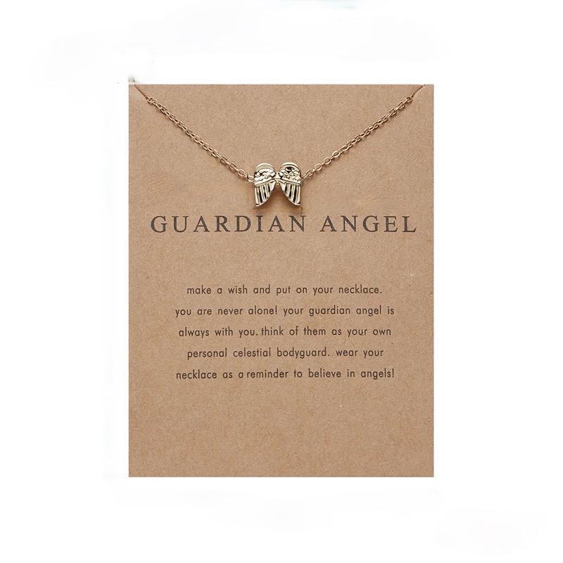 Guardian angel - halsband 18K guldpläterat gåva ängel vingar