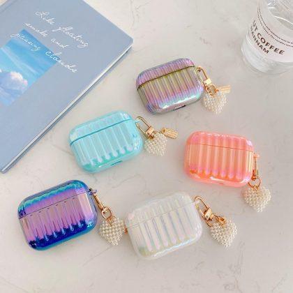 Airpods Pro skal i neon med sött smycke flera färger