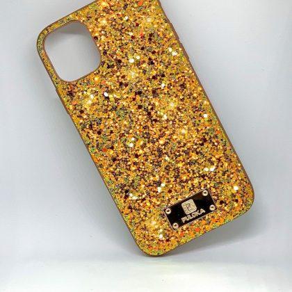 Premium kvalitet glitter case till iPhone11 Pro i guld