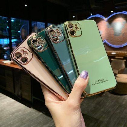 iPhone 12 Pro Skal Laserutskuret stötdämpande i flera färger guld