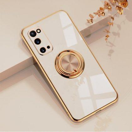Samsung Galaxy S20 Plus Lyxigt Stilrent skal med ring ställ-funktion Guld