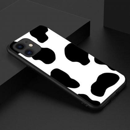 iPhone 12 Pro Max Skal dalmatin ko mönster svart vit