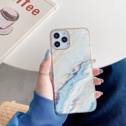 iPhone 12 Pro Max Skal i oändliga färger marmor mönster