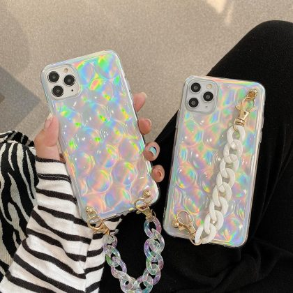 iPhone 12 Pro Max Skal 3D glitter vristband neon