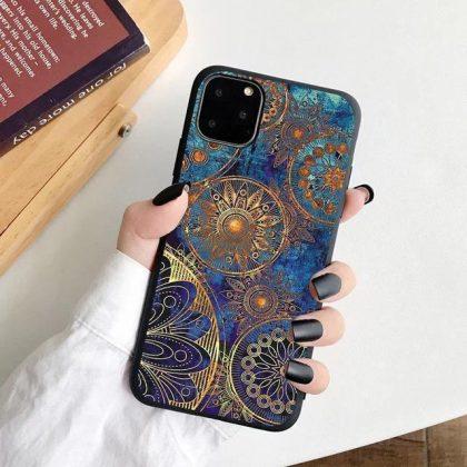 iPhone 12, 12 Pro & 12 Pro Max Skal orientaliskt blått mönster