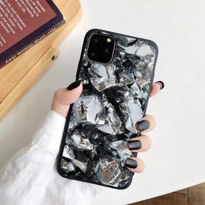iPhone 12, 12 Pro & 12 Pro Max Skal sten diamant abstrakt