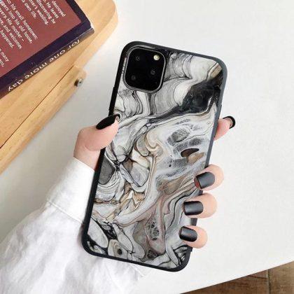 iPhone 12, 12 Pro & 12 Pro Max Skal marmor sten vattenfärg