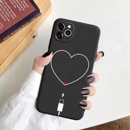 iPhone 12 Pro Max skal batteri slut hjärta kärlek ladda