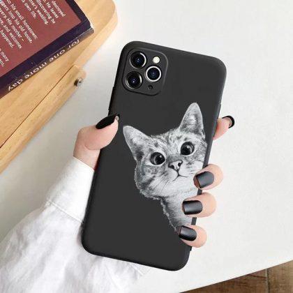 iPhone 12 & 12 Pro skal med rolig katt kattälskare
