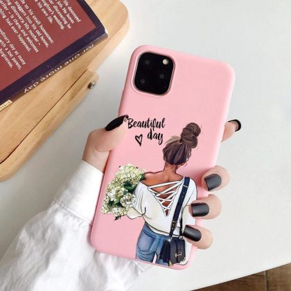 iPhone 12 & 12 Pro skal beautiful day influencer blommor rosa