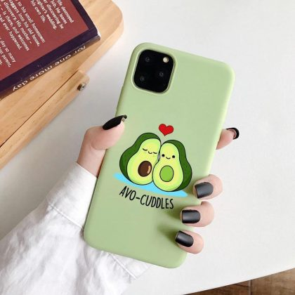 iPhone 12 & 12 Pro skal avokado myser avo-cuddles grön