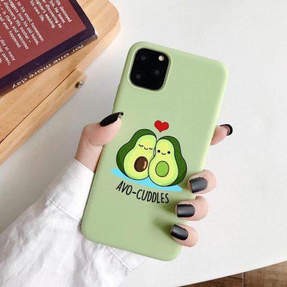 iPhone 12 Pro Max skal avokado myser avo-cuddles grön