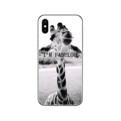 iPhone 11 Pro Max skal rolig giraff med text I am fabulous
