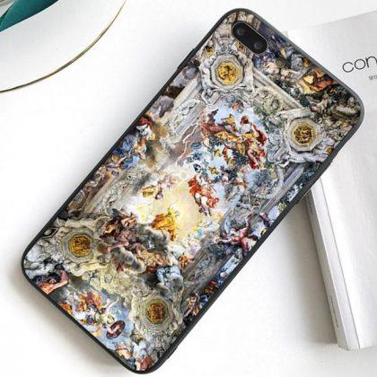 iPhone 12 skal antikt motiv målning oljemålning