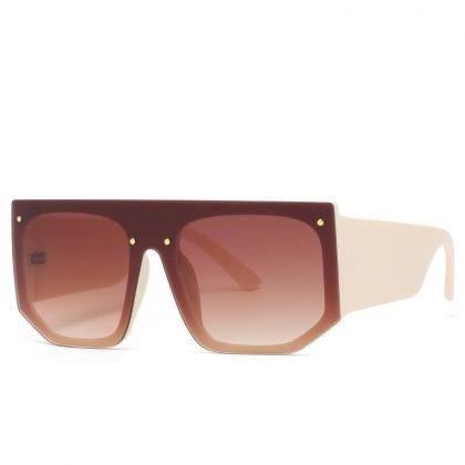 Solglasögon unisex bred bågar elastiskt material