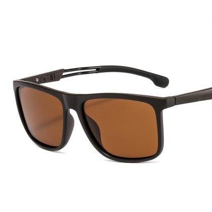 Polariserade Solglasögon till män för utomhusbruk röda detaljer
