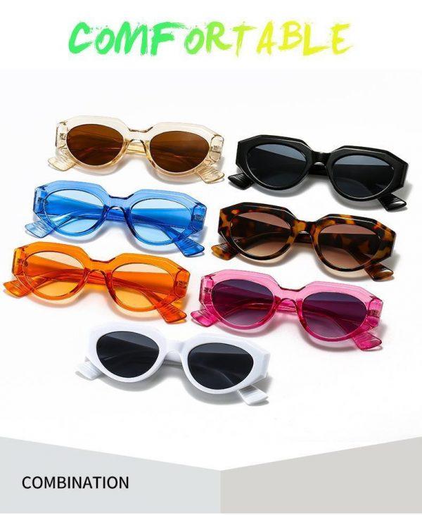 Retro solglasögon dam årets hetaste trend multifärg