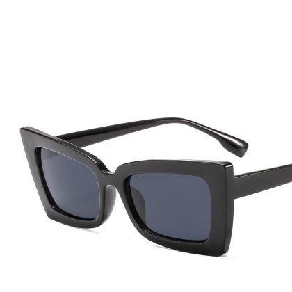 Retro solglasögon dam coola bågar fyrkantig design