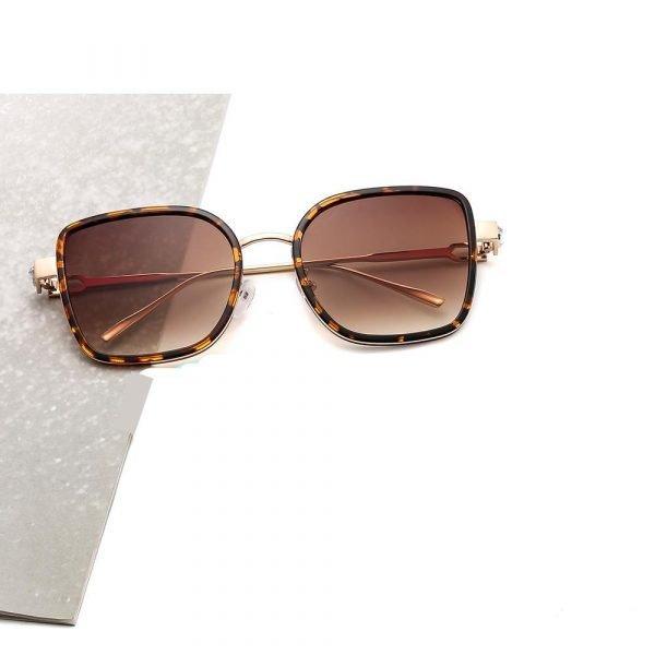 Solglasögon till dam runda med diamant överdimensionerade bling