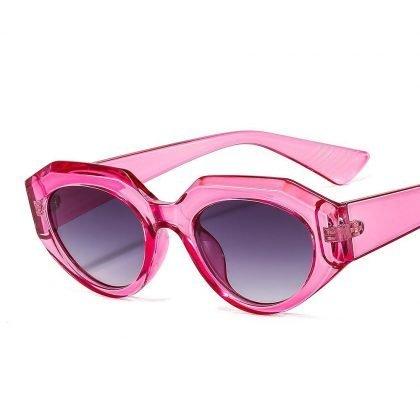 Retro solglasögon dam årets hetaste trend rosa