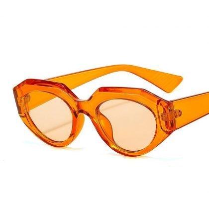 Retro solglasögon dam årets hetaste trend orange