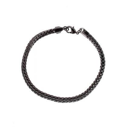 Lyxigt titanium armband för män i svart eller silver