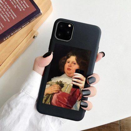iPhone 12, 12 Pro & Max skal fet person tar selfie rolig selfie