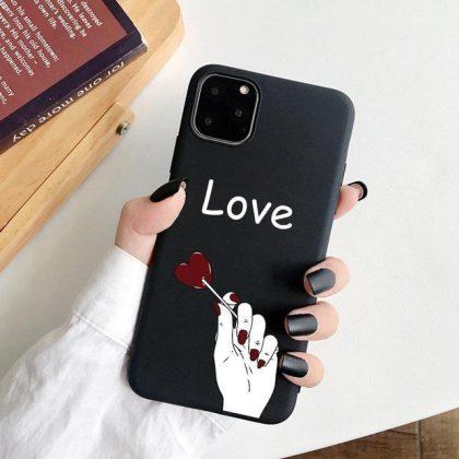 iPhone 12, 12 Pro & Max skal hjärta klubba pinne ''love''
