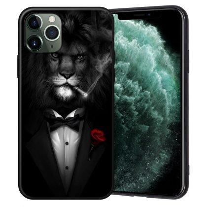 iPhone 12, 12 Pro & Max skal lejon i smoking som röker cigarett