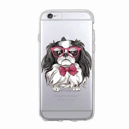 iPhone 12, 12 Pro & Max transparent skal hund cocker spaniel glasögon