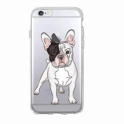 iPhone 12, 12 Pro & Max transparent skal hund franska bulldog