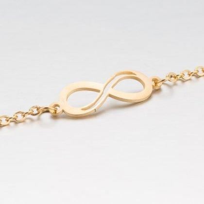 Guldpläterat armband med evighetssymbol för dam