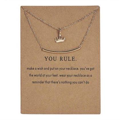 You rule - halsband med en krona 18K guldpläterat gåva