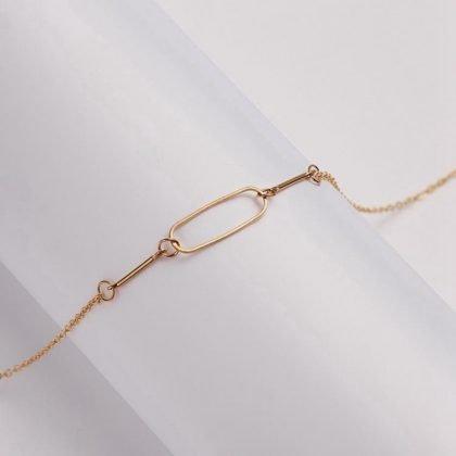 Friendship -halsband med oval 18K guldpläterad gåva vänskap