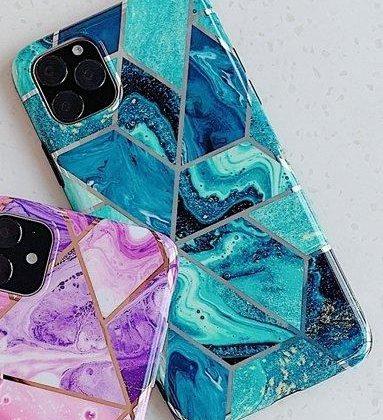 Mobilskal till iPhone 11 med blått marmormönster