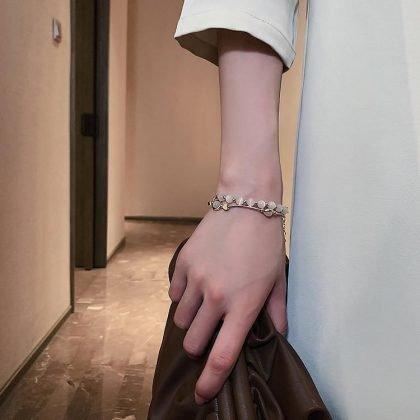 Vackert armband med diamanter lyx gåva guld för kvinnor