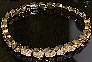 Vackert armband med ovala diamanter lyx gåva guld för kvinnor