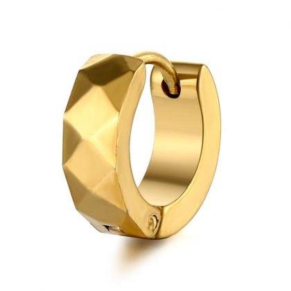 Örhängen för män 18 K guldpläterade av rostfritt stål 9 mm