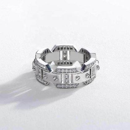 Unik handgjord silver guld ring för män punk