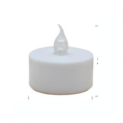 LED-värmeljus 2-pack MED BATTERI vit
