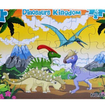 Pussel till barn dinosauriernas kungarike från 3 - år 16 bitar