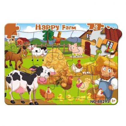 Pussel till barn bondgård djur från 3 år - 16 bitar