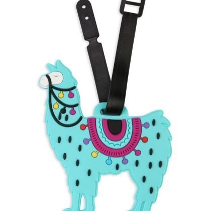 Bagagebricka tag Lama djur blå Llama resa